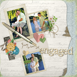 scanning photos digital scrapbooking layout