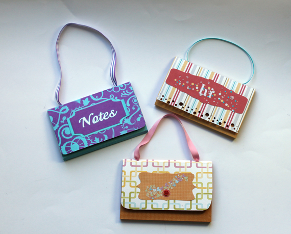 DIY sticky note purses