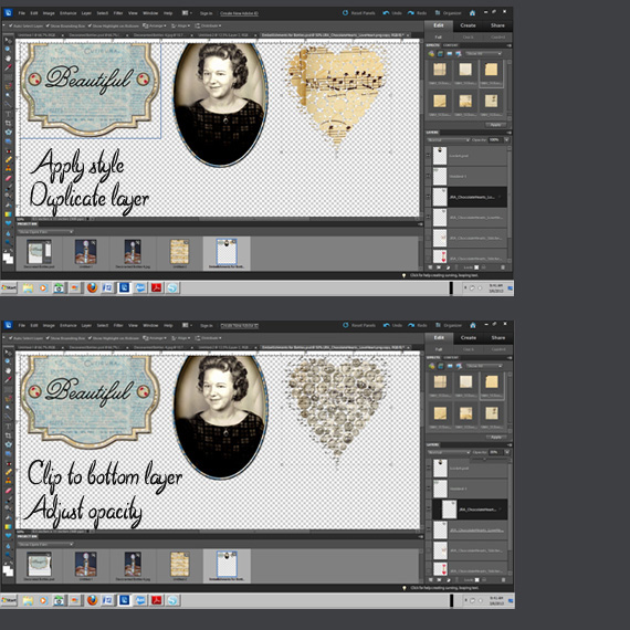 print digital embellishments in photoshop
