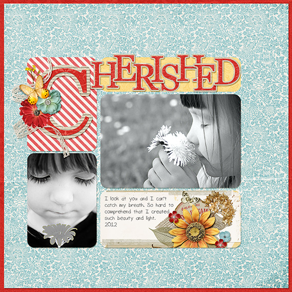 journal card digital layout sketch
