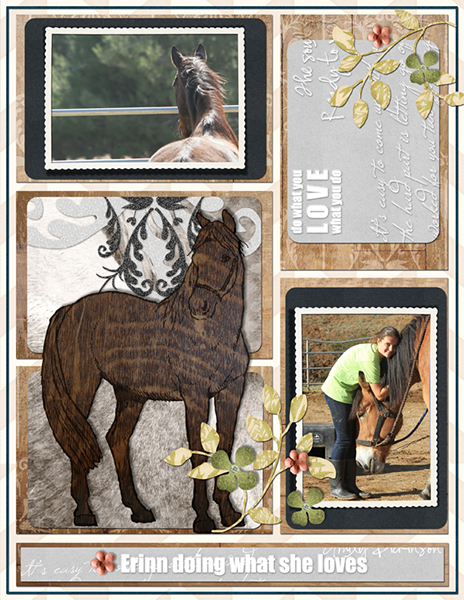 original digital scrapbooking layout