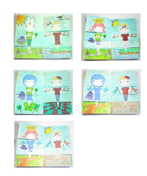 paper doll flip pages