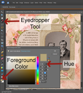 select color with eyedropper tool