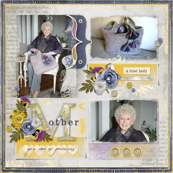 journal card digital scrapbook layout