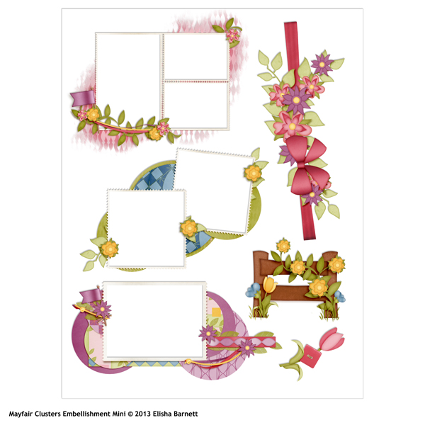 mayfair digital scrapbooking embellishment mini