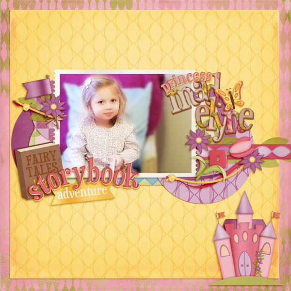 mayfair digital scrapbooking layout 5