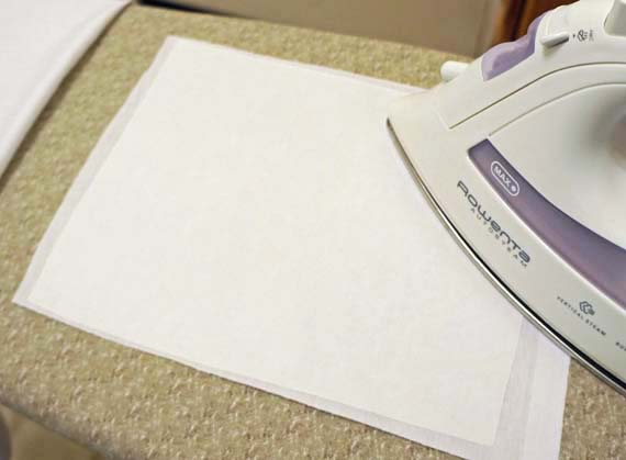 silhouette fabric  iron on interfacing