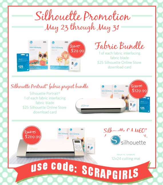 silhouette fabric bundle promotion