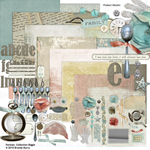 Parisian digital scrapbooking kit