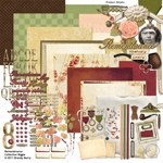 Remembrance digital scrapbooking kit
