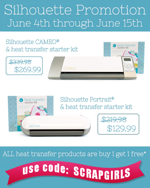 silhouette heat transfer promotion