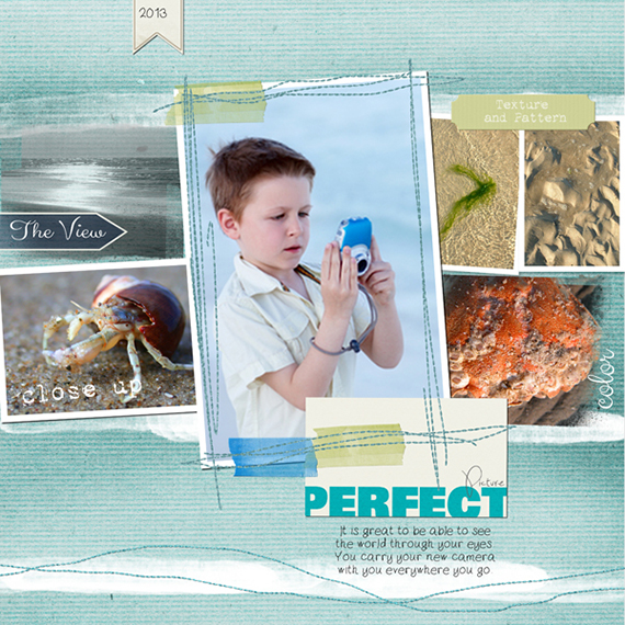 pocket plus digital scrapbook layout