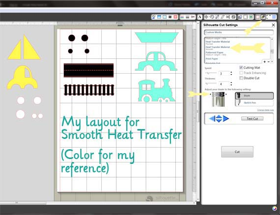 silhouette heat transfer smooth