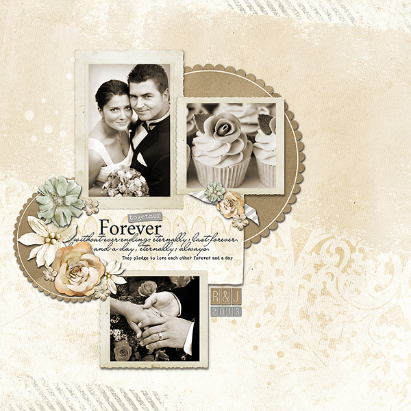 Layout after converting photos to sepia.