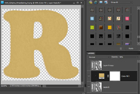 color layer to look like cookie