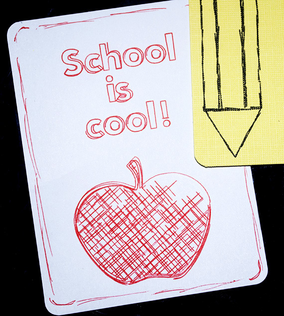 sketched apple journal card