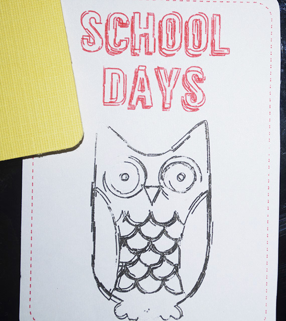 sketched owl card