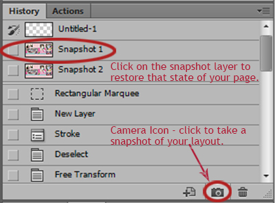 snapshot tool in photoshop