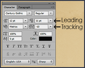 adjusting leading and tracking