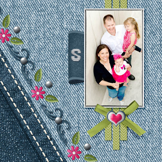 denim embroidery digital layout