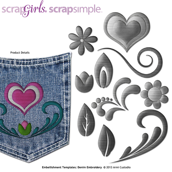 denim embroidery digital embellishments