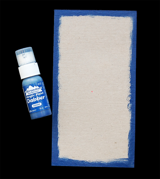 use paint dabber to paint cover