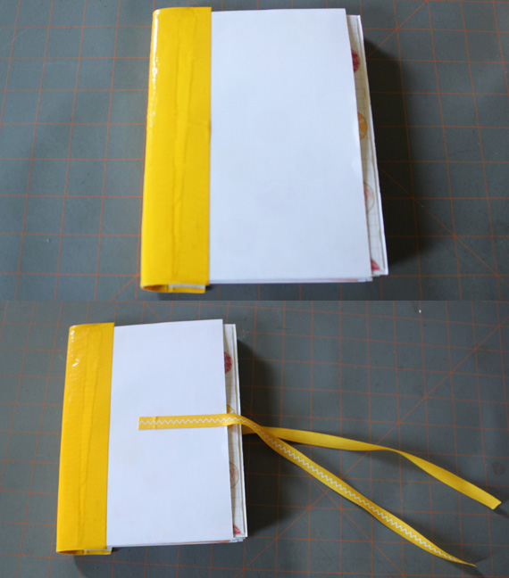 adding binding and ribbon closure