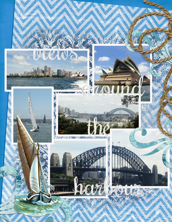 image resize digital scrapbook layout