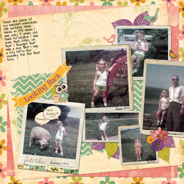 childhood photos scrapbook layout
