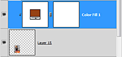 using adjustment layer to add color