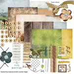 painted pony digital scrapbook kit