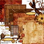 autumn blaze digital scrapbooking kit