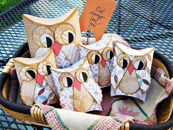 printable owl pillow treat boxes