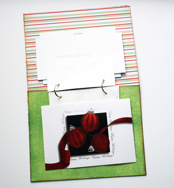 christmas card album attach