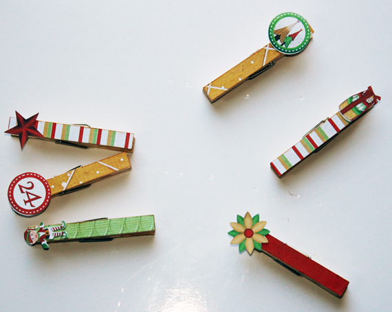 christmas clothespins for card display