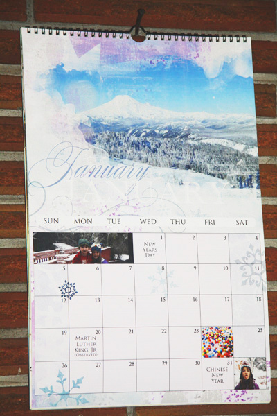 angie durr printed calendar