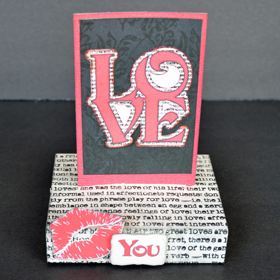 stand up valentine card love