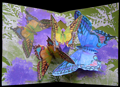 pedestal pop-up butterfly cluster