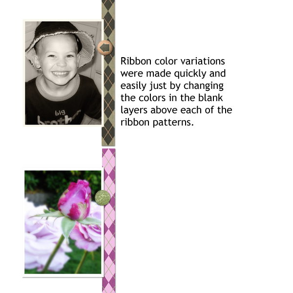 color ribbons to match photos
