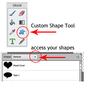 custom shapes tutorial