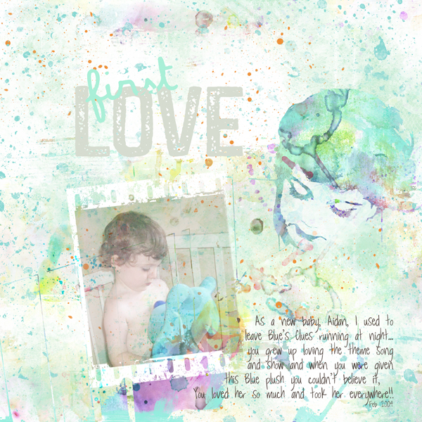 watercolor wonderland layout 3