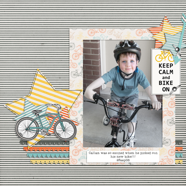 A digital scrapbooking layout made in photoshop elements