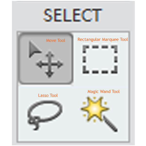 selection tools in pse
