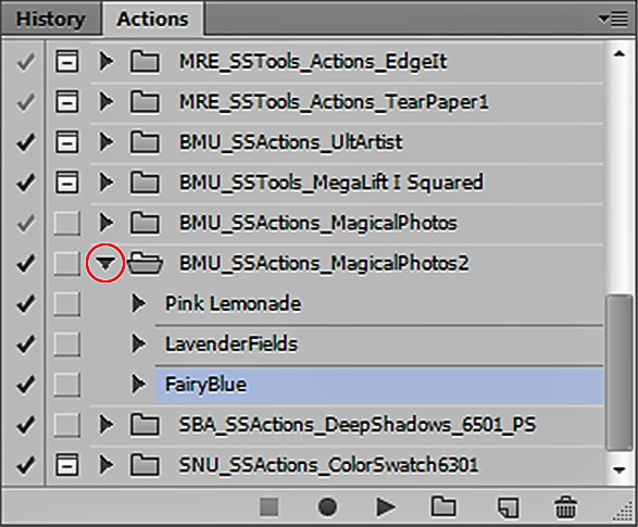 actions panel is photoshop