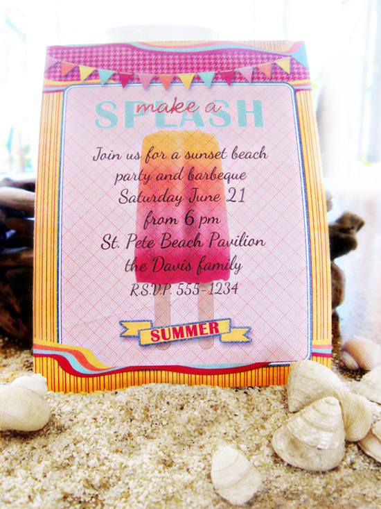 beach invite using scrapsimple club