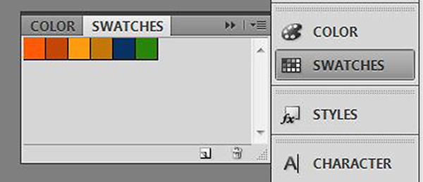 The Swatches Panel in Photoshop