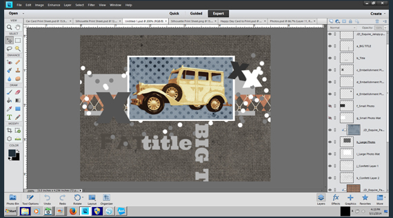 create printable card in photoshop