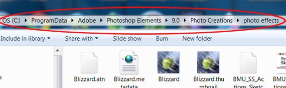 Installing Actions in Photoshop Elements 9