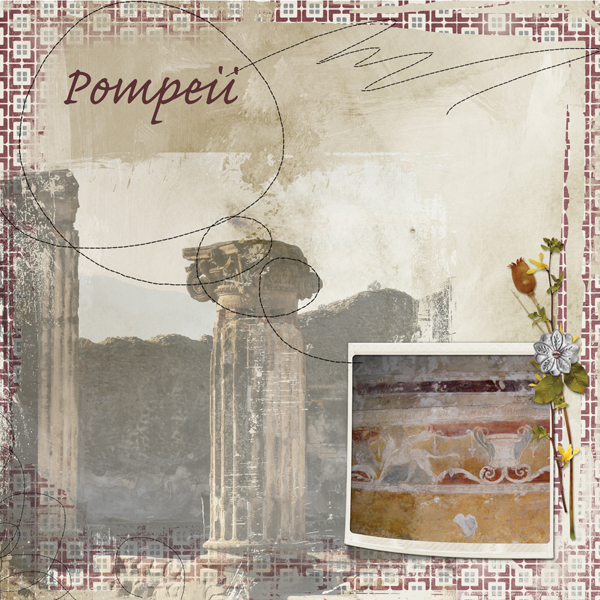 A digital scrapbooking layout using blender masks.