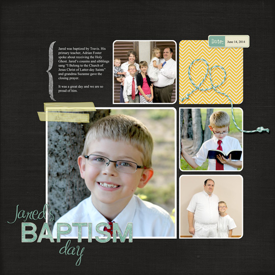 A finished layout showing how a layout template can be personalized.